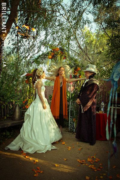 Fire Garden Wedding Ceremony